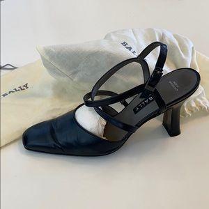 BALLY UFRASIA DK.BLUE sling back shoes SZ US 4.5
